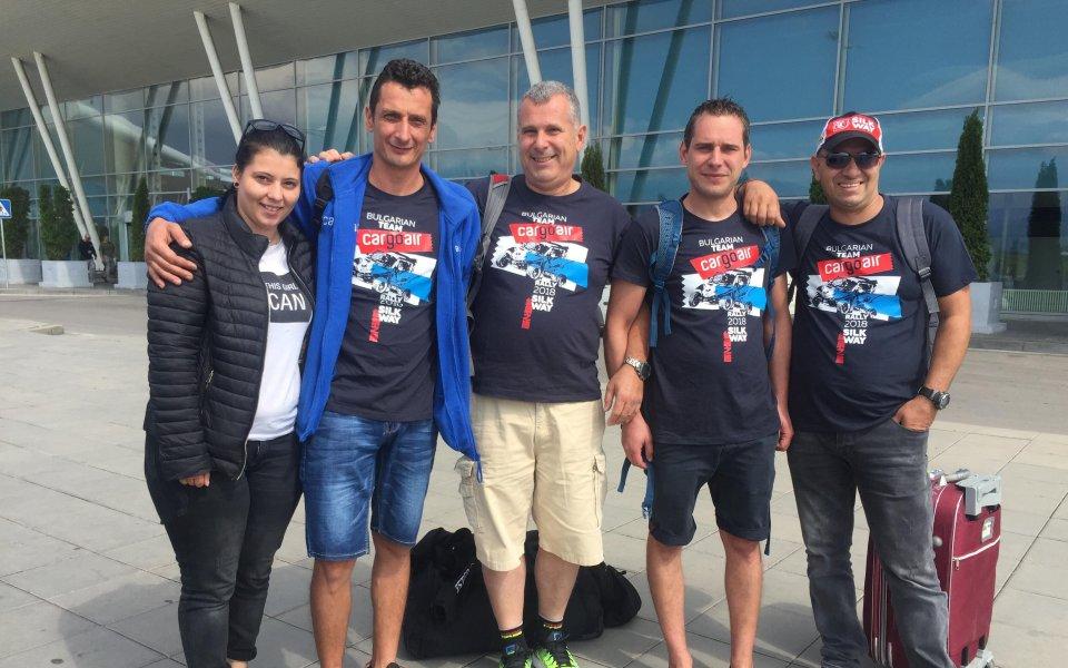 Петър Ценков на старта на Silk Way Rally 2018 с нова машина