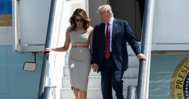 Президентът на Америка Доналд Тръмп и първата дама Мелания Тръмп