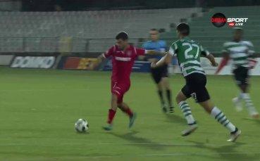 Новакът Ботев Вр с уникален гол след 5 минути в Първа лига