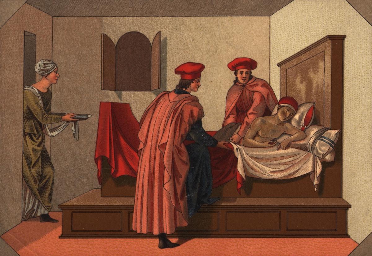 Средновековието: разпространен метод за справянето с хемороидите е бил нажеженият пирон, поставен на съответното място.
