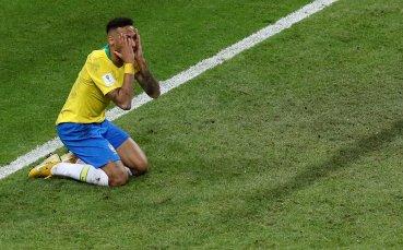 Неймар се контузи в контрола на Бразилия, смениха го рано