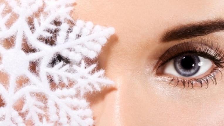 зима кожа лице снежинки
