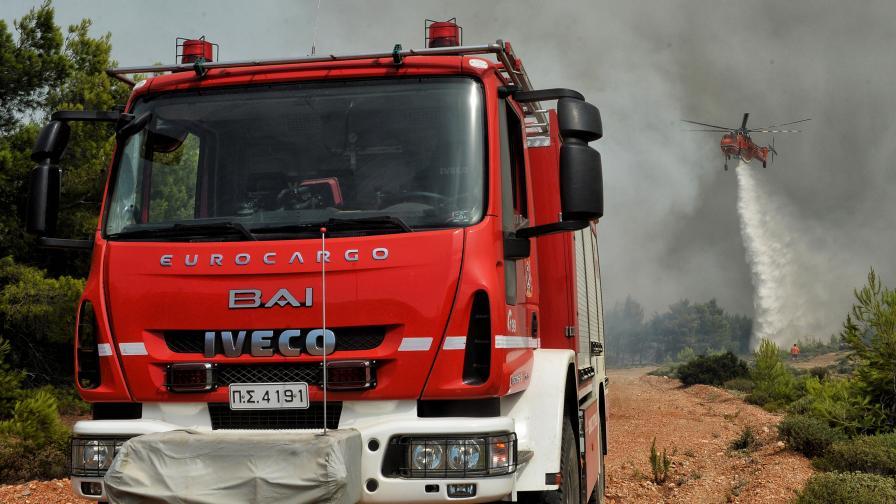 <p>Нов пожар избухна в Атика</p>