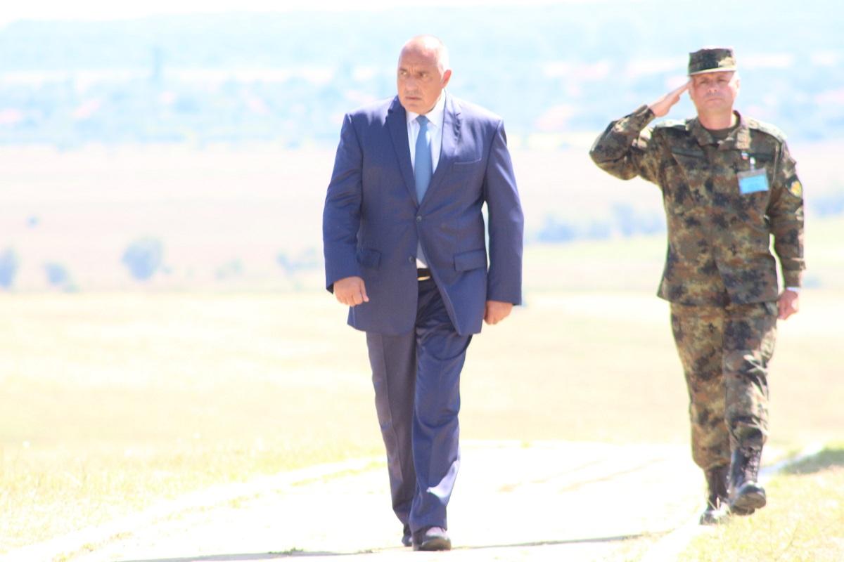 """Премиерът Бойко Борисов присъства на закриването на многонационалното учение """"Платинум лайън"""" (""""PLATINUM LION 2018""""), което се провежда на учебния полигон """"Ново село"""" край Ямбол"""
