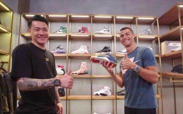 Как се купуват обувки за 3500 долара? Роналдо го прави за секунди