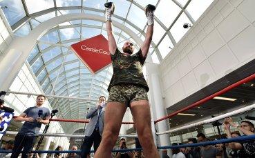 Тайсън Фюри показа страхотна форма преди мача с Пианета