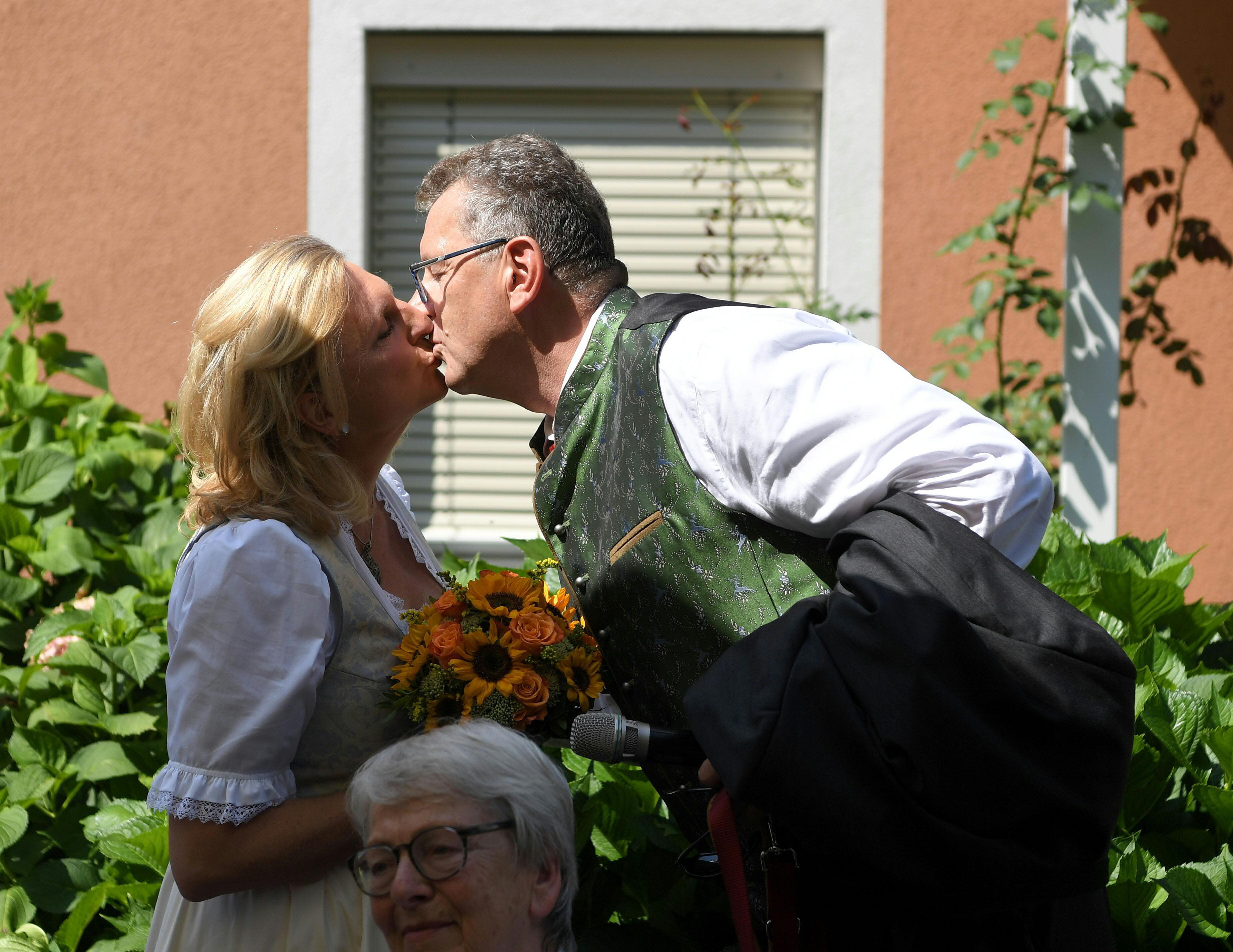 Карин Кнайсъл и съпругът ѝ