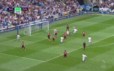 Брайтън - Манчестър Юнайтед 3:1 /първо полувреме/