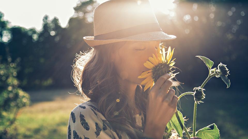 жена радост слънце слънчоглед