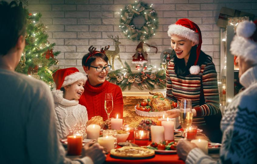 <p>Семейната Коледа</p>  <p>В идеалното семейство празниците са извор на смях и веселие, синхронно готвене със свекървата и песни край камината. В нормалното семейство все някой с някого се кара, пилето е леко поизгоряло и десертът не се е получил. И всички си отдъхваме, когато се приберем у дома.</p>