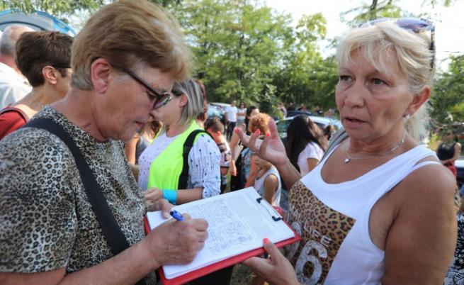 Протест в защита на шофьора на автобуса, катастрофирал крайСвоге