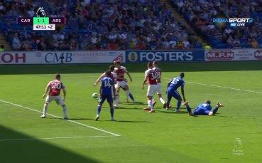 Кардиф изравни на Арсенал в края на полувремето