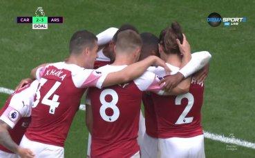 Великолепен гол на Лаказет и Арсенал пак излезе напред