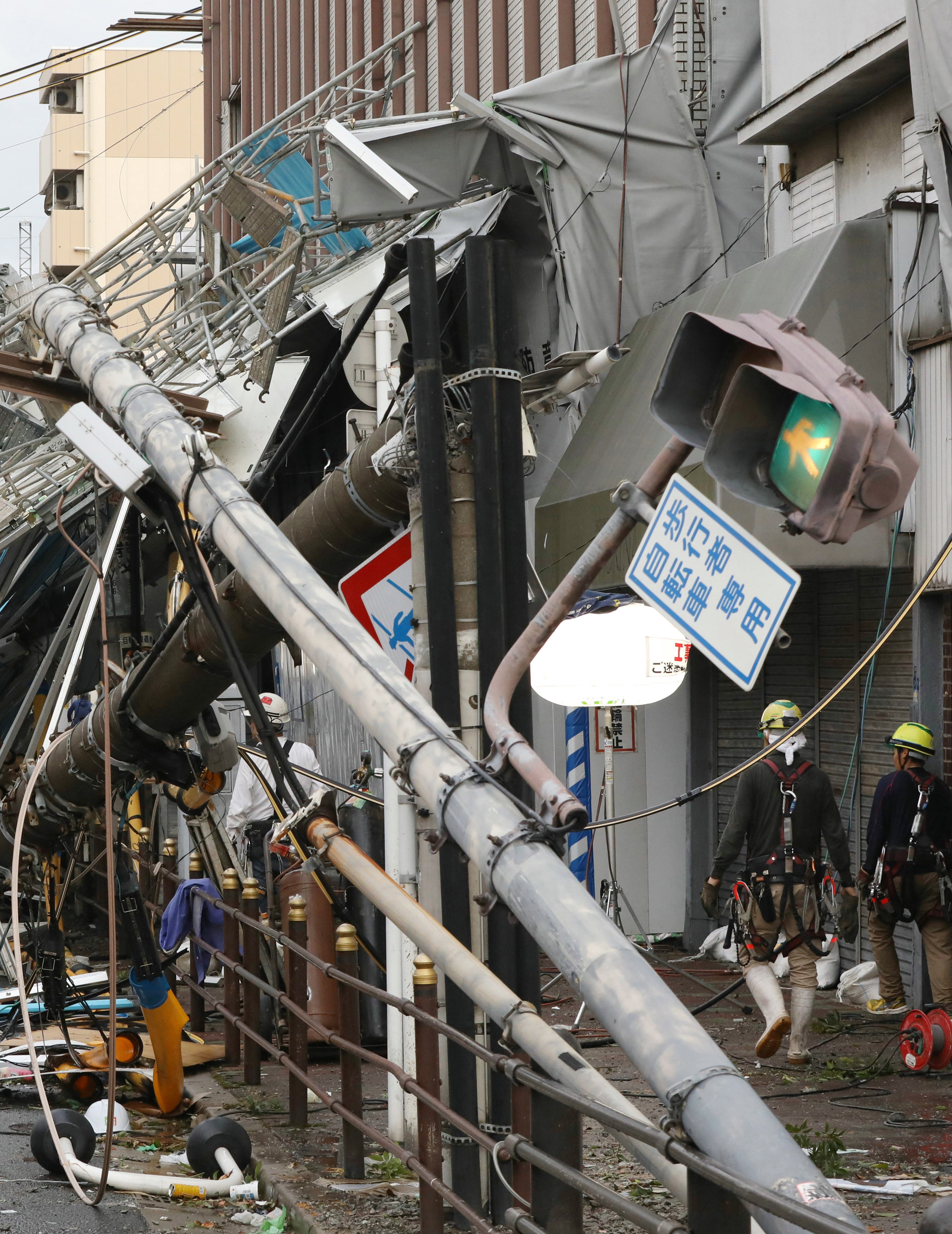 Осака, Япония, тайфун, Джеби