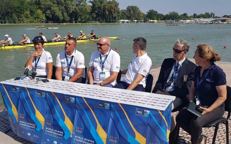Три олимпийски шампионки пожелаха успех на световното по гребане