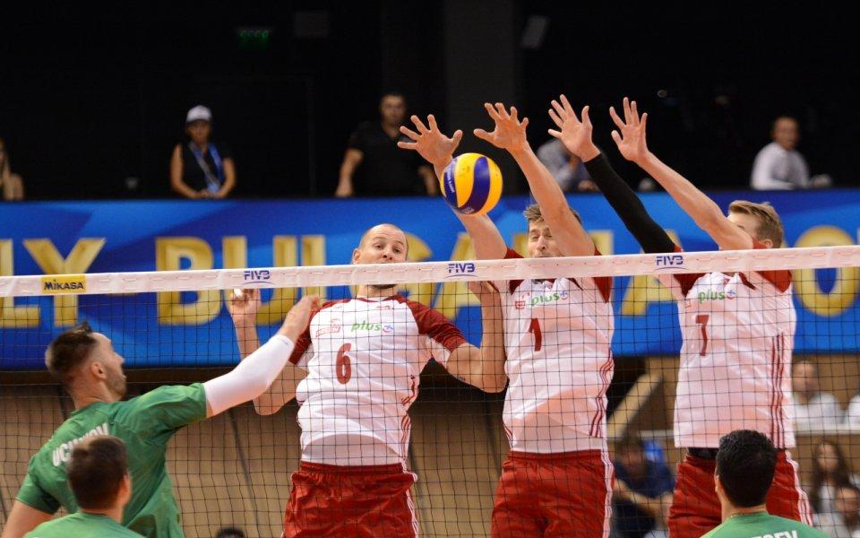 Световният шампион по волейбол Полша започна с победа участието си