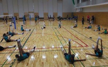 Волейболистките с първа тренировка в Окаяма