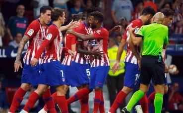Атлетико унищожи Уеска за половин час и отхлаби примката (видео)