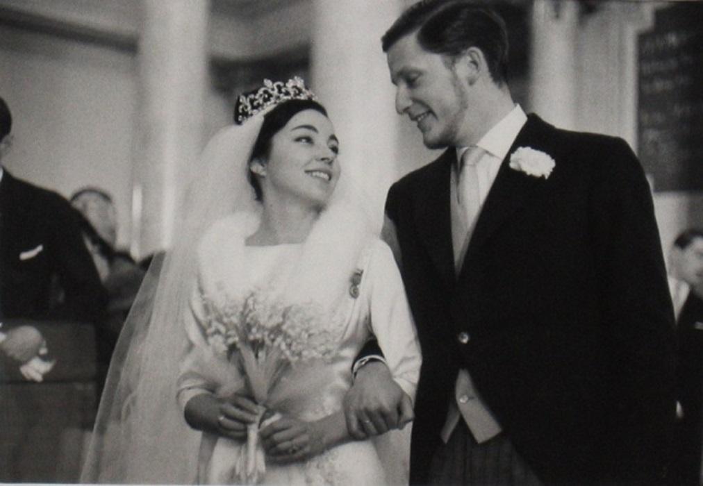 Доня Маргарита и Симеон II в деня на сватбата им