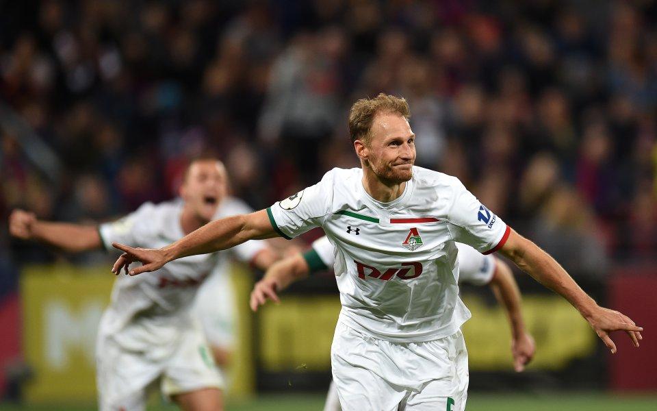 Отборът на Локомотив Москва победи с 2:0 като гост Ахмат