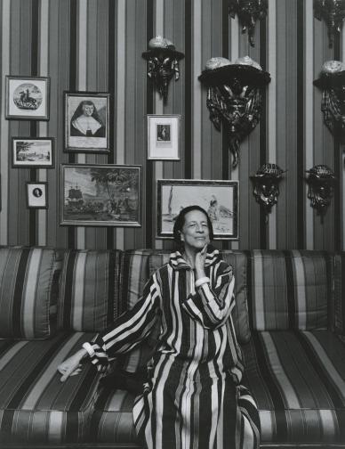 Модната легендаДаяна Врийланд, 1974 г. Тя е една от най-влиятелните модни фигури в американската fashion история през 20 век. Работила е за сп. Harper's Bazaar и модната библия Vogue.
