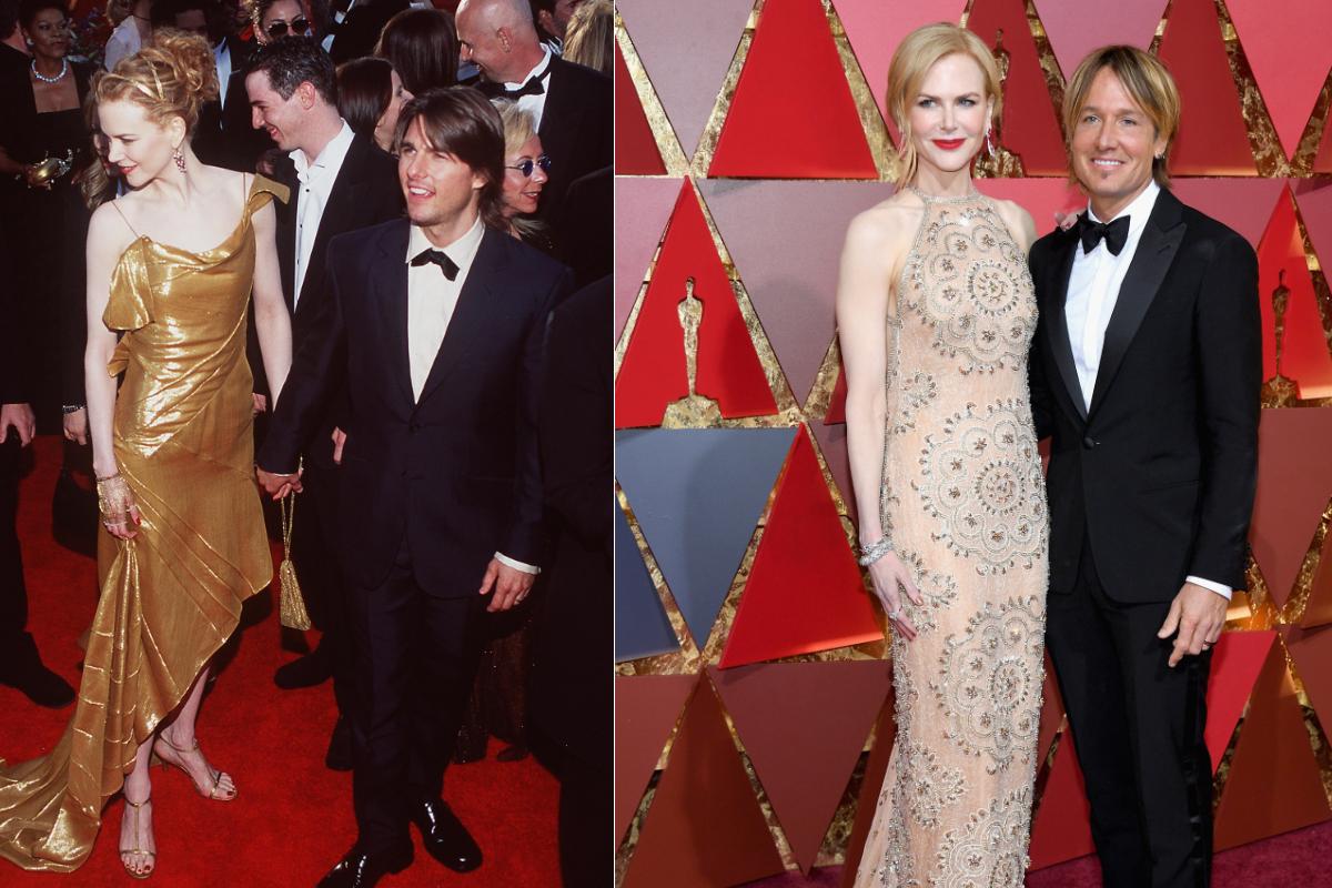 """Никол Кидман 17 години по-късно със същия безупречен вкус към модата и различен съпруг (2000-2017 г. """"Оскар""""-и)"""