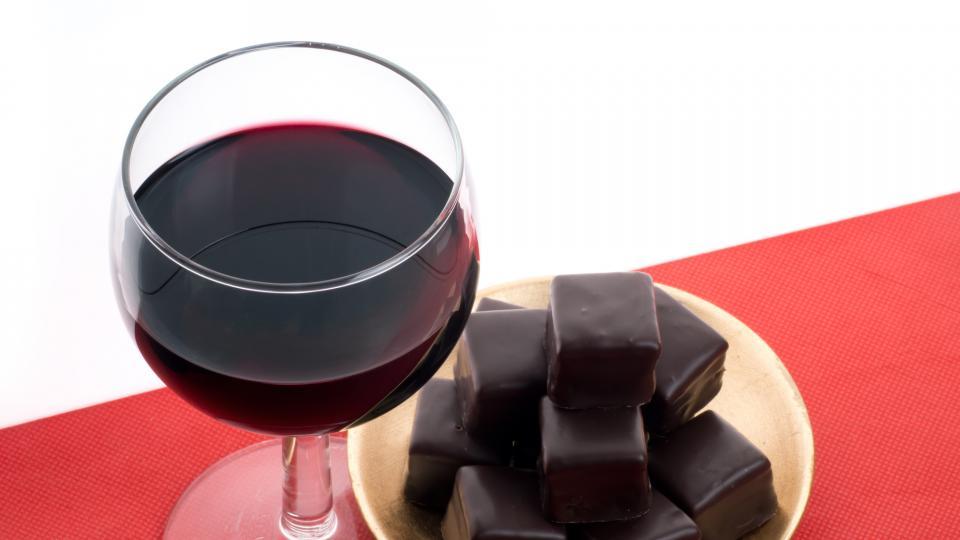 червено вино шоколад