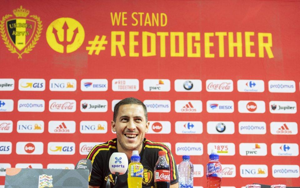 Азар и Лукаку са включени в групата на Белгия за мачовете с Исландия и Швейцария