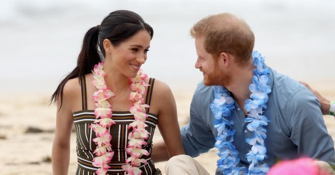 Херцозите на Съсекс принц Хари и неговата съпруга Меган събуха