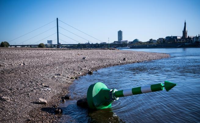 Суша в Германия: Рейн достигна най-ниските си нива