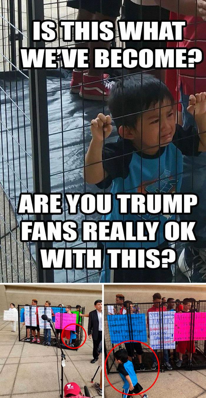 Кадри от протест в подкрепа на имиграцията.