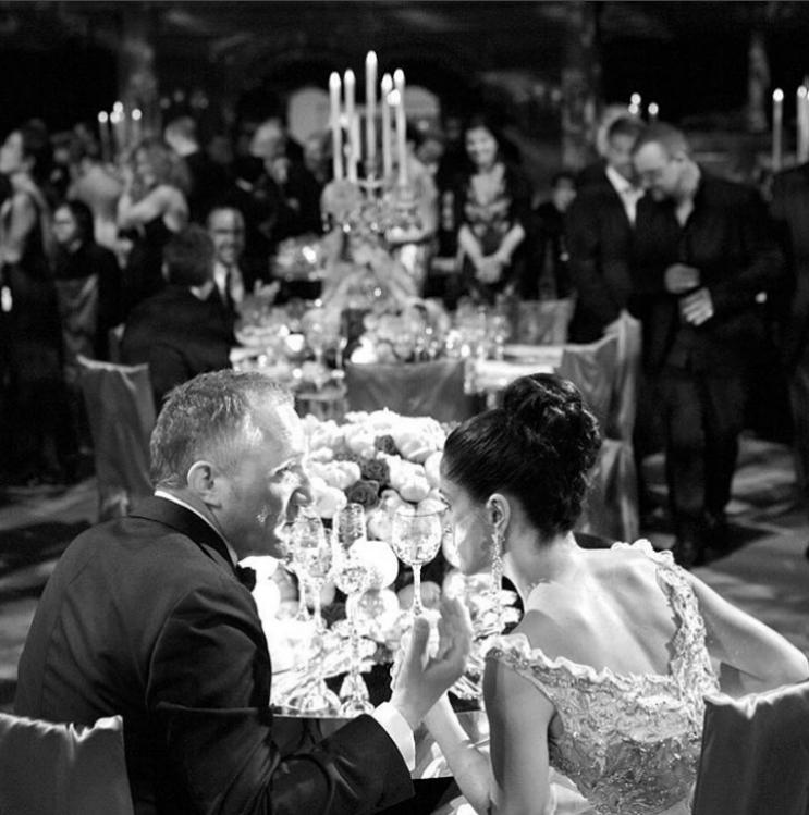 Салма Хайек иФрансоа-Анри Пино се ожениха през на Свети Валентин през 2009 г. във Венеция.