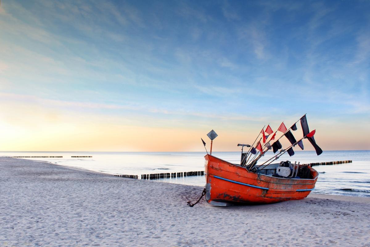 Плаж на Балтийско море.