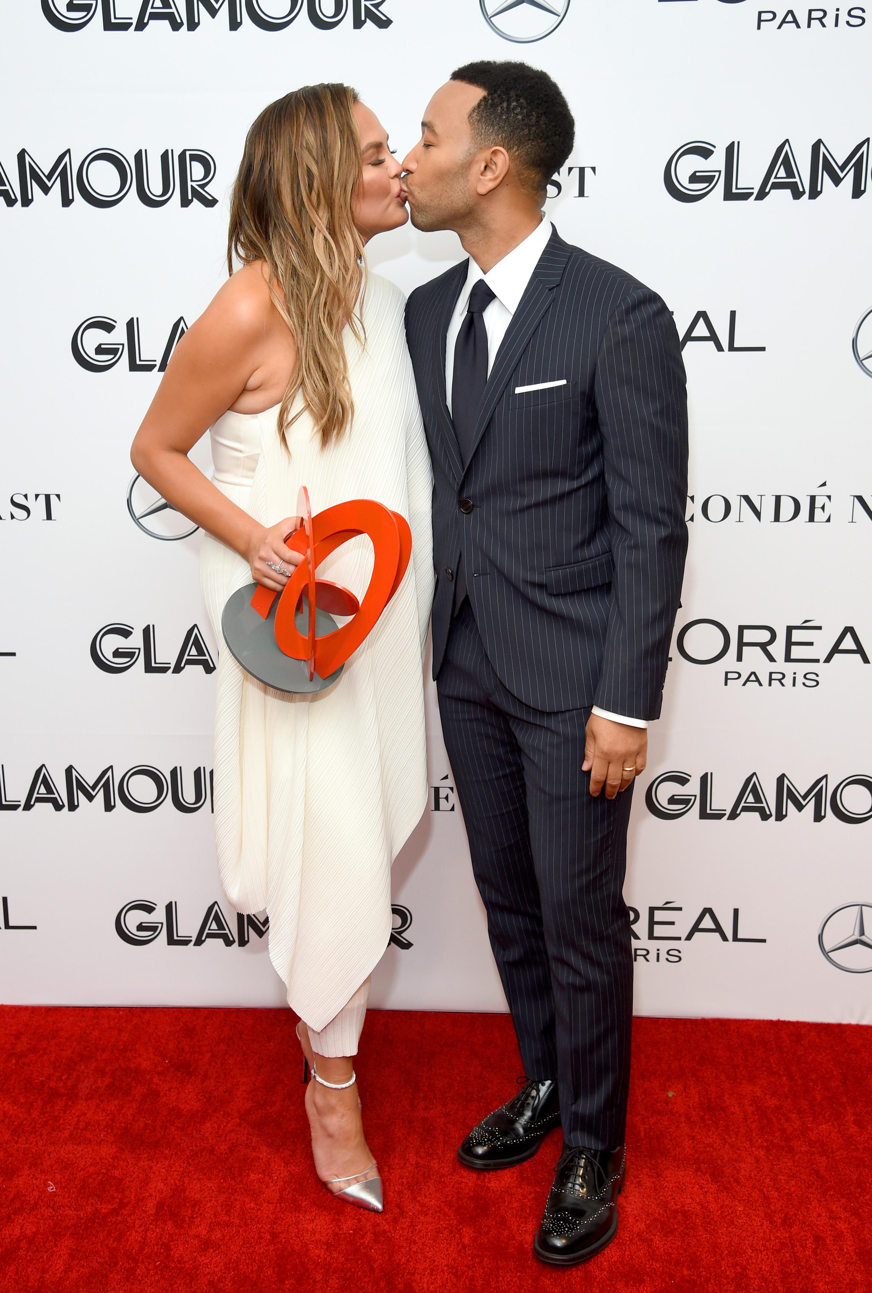 Моделът Криси Тейгън и съпругът ѝ - певецът Джон Леджънд