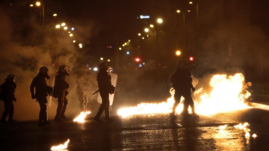 Сблъсъци в Гърция