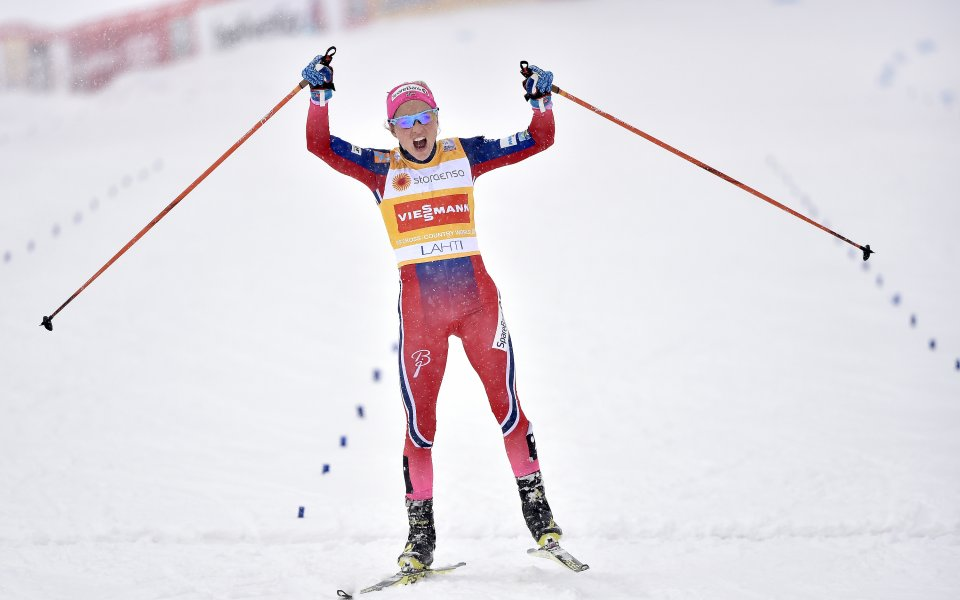 Терезе Йохауг се завърна триумфално към ските