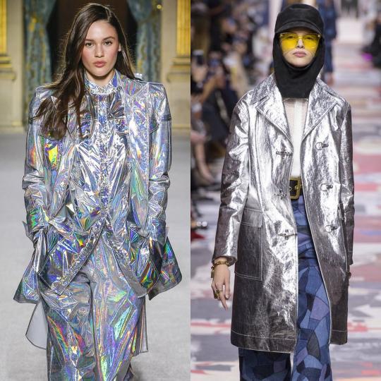 <p><b>Блестящи</b><br /> Няма как дрехите и аксесоарите да са обсипани с блясък, дори в ежедневието, и връхните дрехи да останат по-назад. Акцент в облеклото или част от цялостен лъскав стайлинг, блестящото яке или палто е must have покупка за сезона.</p>  <p><i>&nbsp;</i></p>  <p><i>Balmain, Dior</i><br /> &nbsp;</p>