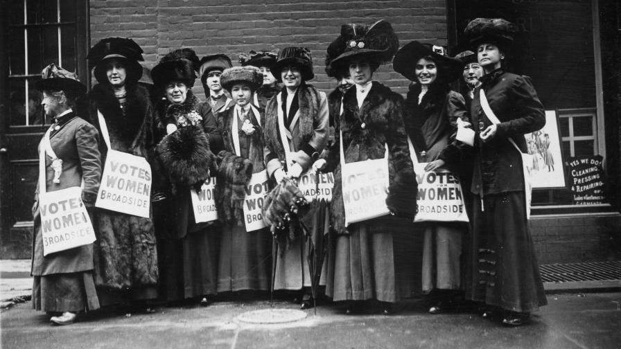 Суфражетки в Ню Йорк през 1913 г.