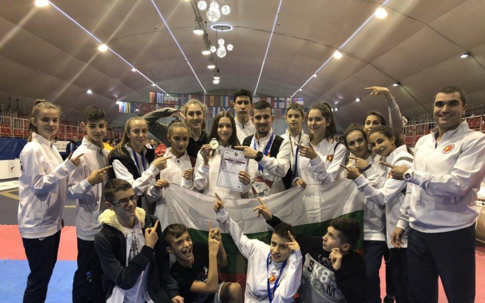 Сребрен медал за България на Европейското по таекуондо