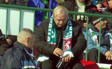 Заснежен терен и трибуни на Ботев Враца – Септември