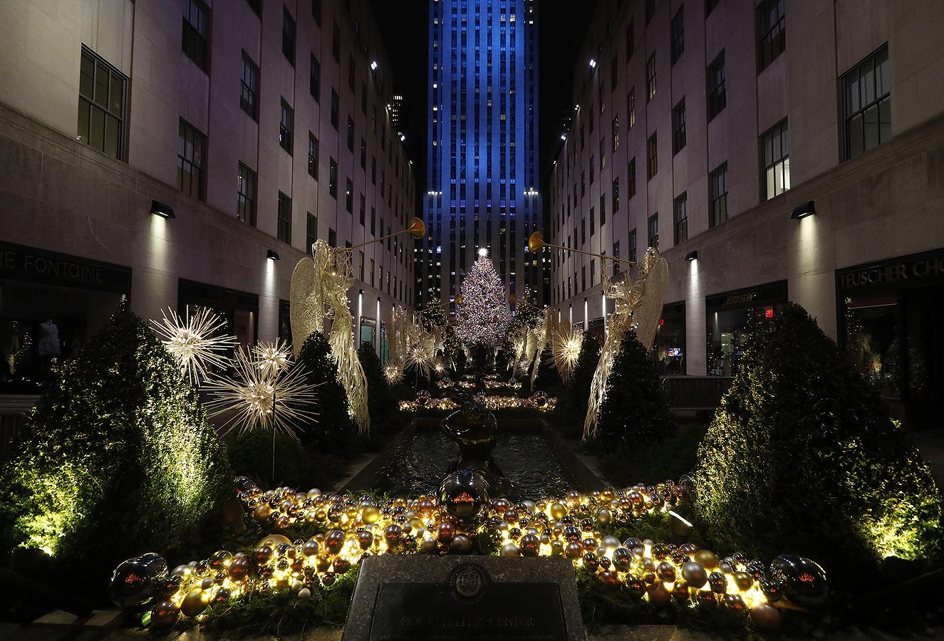 Центърът Рокфелер в Манхатън, Ню Йорк, САЩ
