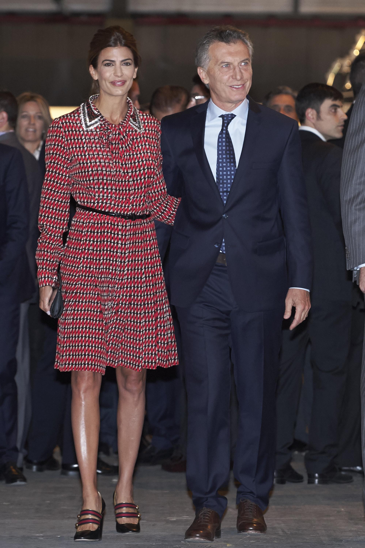 Хулиана Авада и Маурисио Макри