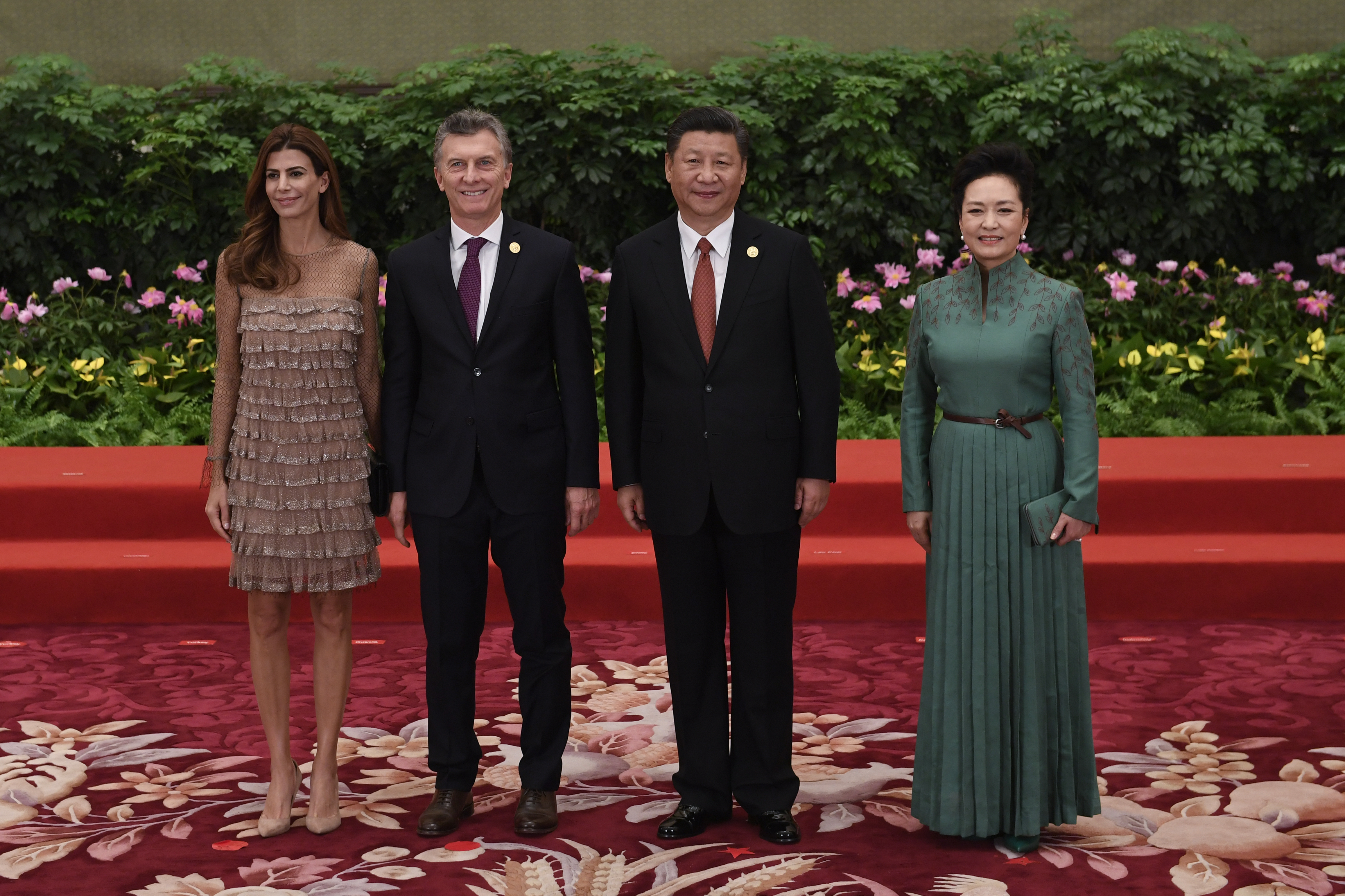 Президентската двойка на Аржентина с президента на Китай и съпругата му