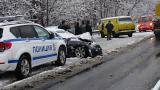 Катастрофиралите коли на изхода на Благоевград
