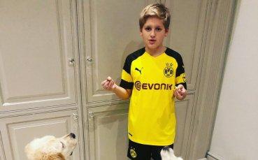 Синът на Стилиян Петров се оказа фен на Борусия Дортмунд