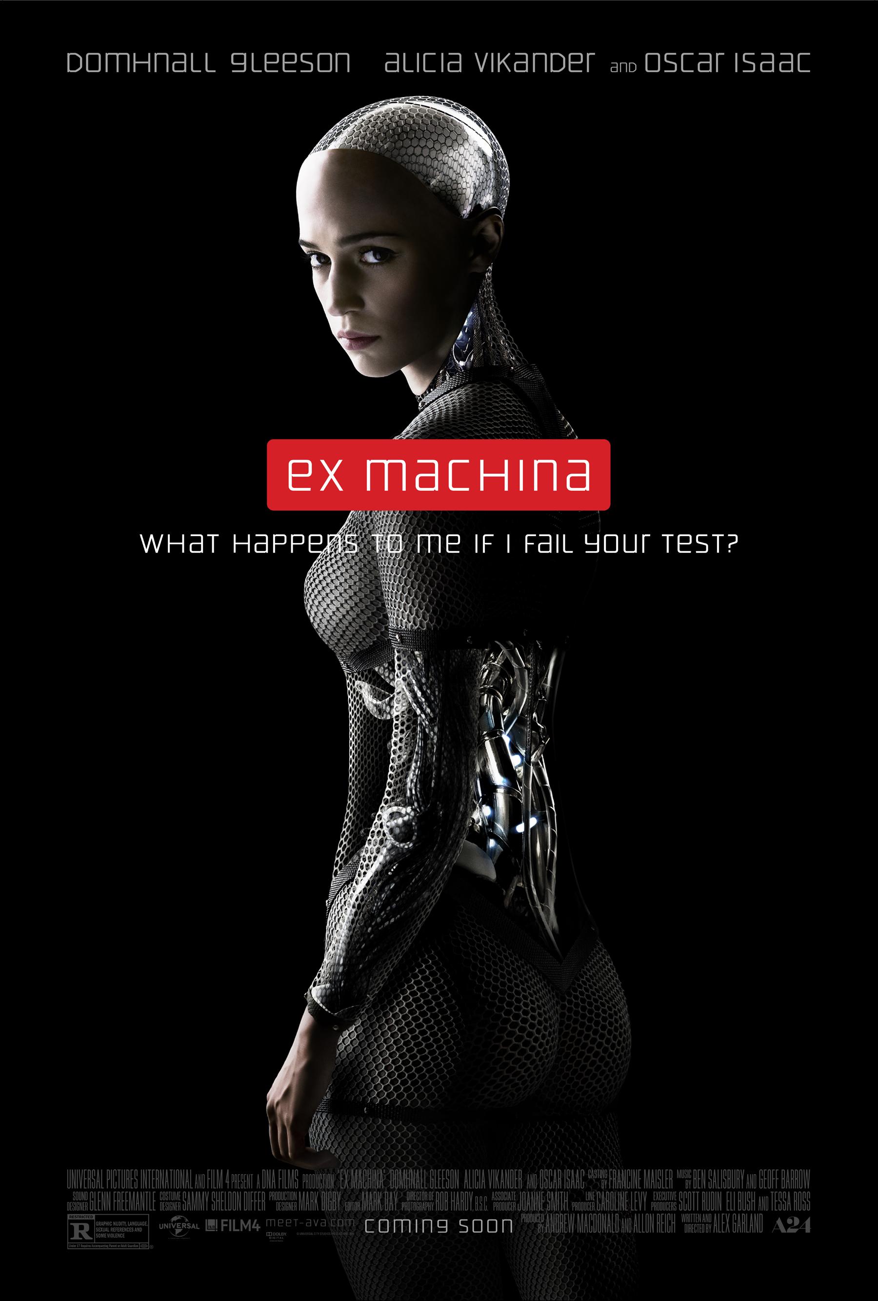"""10. Ex Machina / """"Ex_Machina: Бог от машината"""" (2014) – Режисьор: Алекс Гарланд; Участват: Домнал Глийсън, Алисия Викандър, Оскар Айзък"""