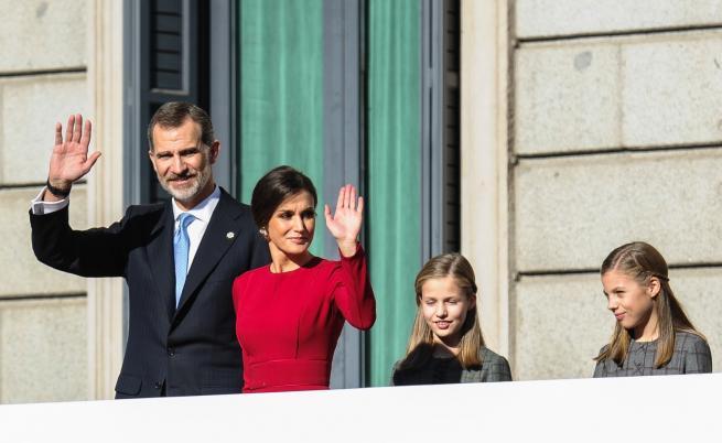 30 г. по-късно кралица Летисия облече рокля на свекърва си