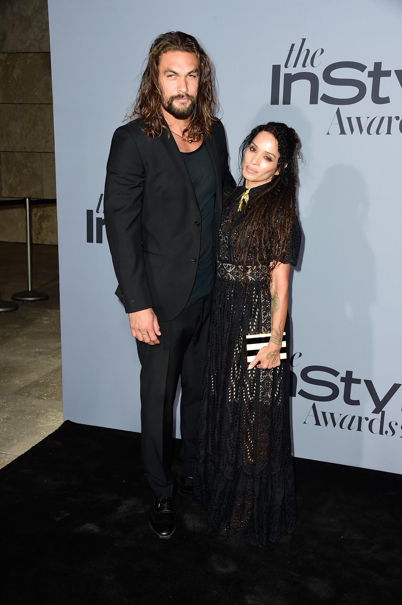Джейсън Момоа със съпругата си Лиса Бонет