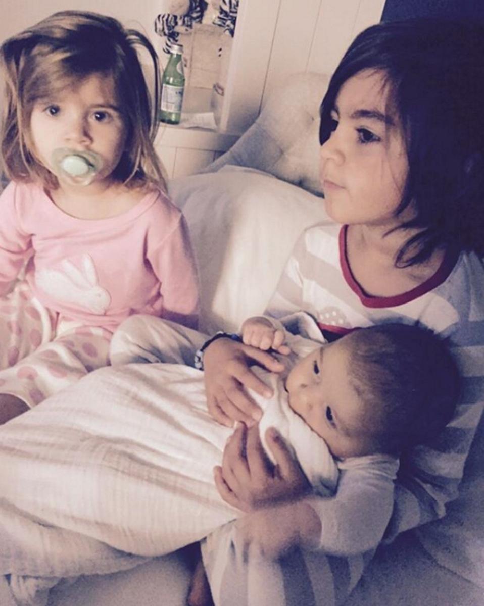 Децата на Кортни Кардашиян: Мейсън, Пенелъпи и Реин.