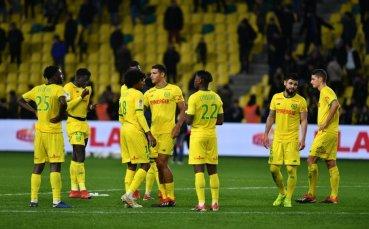 Трета поредна победа и трета позиция в Лига 1 за Нант
